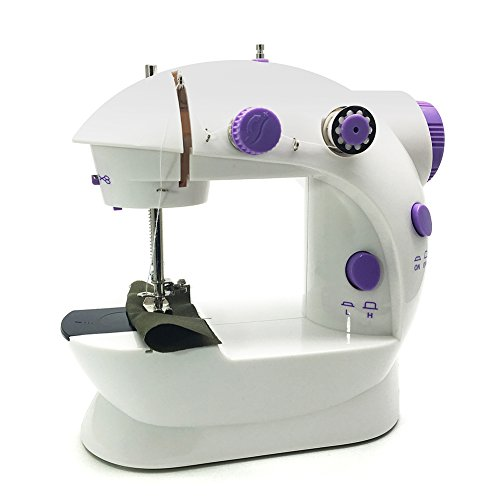 Sewing Machine, FlatLED Mini Portable 2-Speed Double Thread, Double Speed, With Small Light, With...