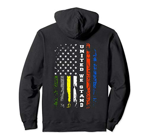 First Responder Thin Line Shirt Patriotic American Flag Gift Pullover Hoodie