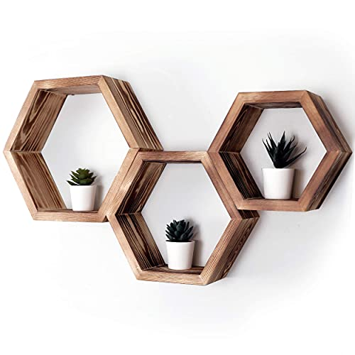 Evelup Products Hexagon Unique Boho Floating Shelves
