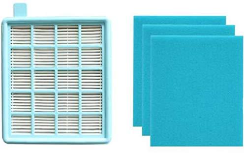 Kit d'accessoires pour aspirateur Philips Power Pro Active Filtre Hepa de rechange avec mousse de rechange (couleur : filtre bleu)