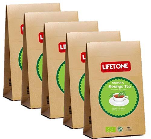 Bio Moringa Blatt Tee | 100 koffeinfreie Teebeutel | Reiner Kräutertee aus den Tropen Sri Lankas