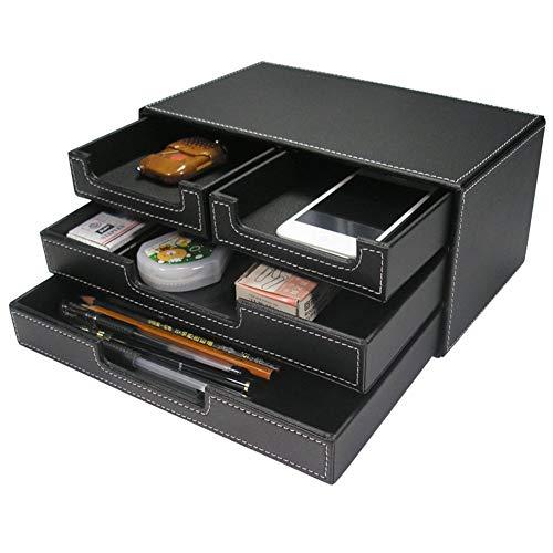 KINGFOM Schwarz Schreibtischorganizer Schreibtisch Ordnungssystem