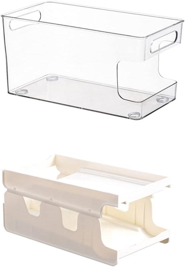 HEMOTON Pantry Organizers Clear Genuine Free Shipping Plastic Sta specialty shop Storage Racks