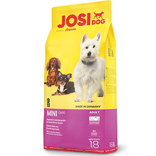 JosiDog Mini, Hundefutter für kleine Rassen, Premium Trockenfutter für ausgewachsene Hunde, powered by JOSERA, 1er Pack (1 x 18 kg)