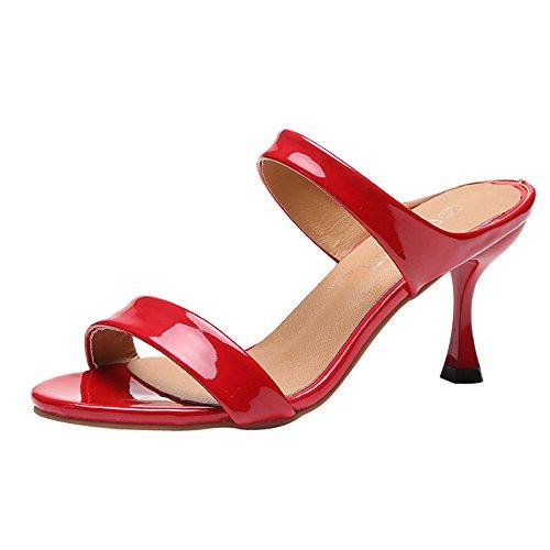 Party Schuhe Damen Mit Absatz UFODB Frauen Stilettoabsatz Highheel-Sandalen High Heels Block Offene Zehen Brautschuhe Freizeitschuhe Tanzschuhe Sandalette