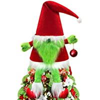 ORIENTAL CHERRY Large Xmas Gnomes Hat Christmas Tree Topper (Red White Green)