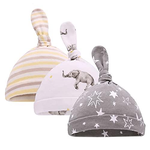Sombrero de bebé recién Nacido Accesorios de fotografía Gorra niños niño niña Kinderen Muts Gorro para niños Gorros para niños pequeños Touca Infantil-3Pcs B-One Size