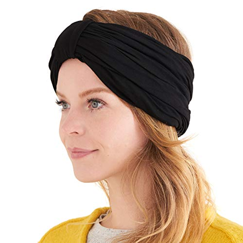 Womens Chunky Turban Headband Headscarf Winter Head Wrap Chemo Hat Natural...