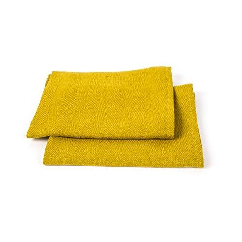 Toallas amarillas de mano. Juego de 2.
