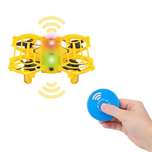 Mini aviones no tripulados para los niños, juguete de control remoto de helicóptero teledirigido Quadcopter avión no tripulado Altitud espera, el modo 3D sin cabeza tirones Una tecla Retorno,Amarillo