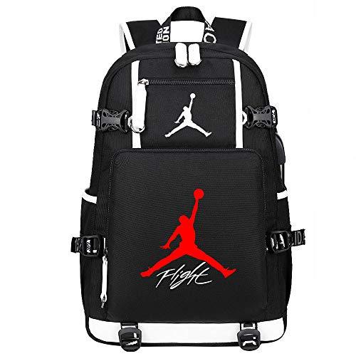 Liuying Michael Jordan 23 Rucksack Kindertasche Jungen Mädchen Schultasche Teen Laptoptasche College Bag Lunch Bag Männer Lässig Wandern Reiserucksack,5-47cmX15cmX30cm