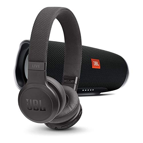 Buy Bargain JBL Charge 4 Portable Bluetooth Speaker with Live 400BT Wireless On-Ear Headphones with ...