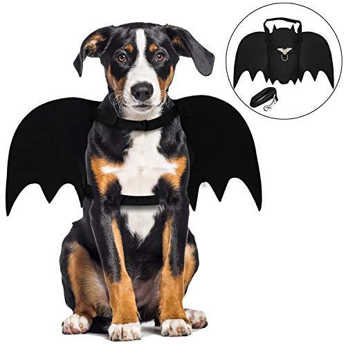 Alas de Perro, Disfraz de Perro de murciélago de Halloween/alas de murciélago de Perro/Disfraz de Perro/Disfraces de Halloween para Mascotas para Perros medianos Grandes decoración de Cosplay