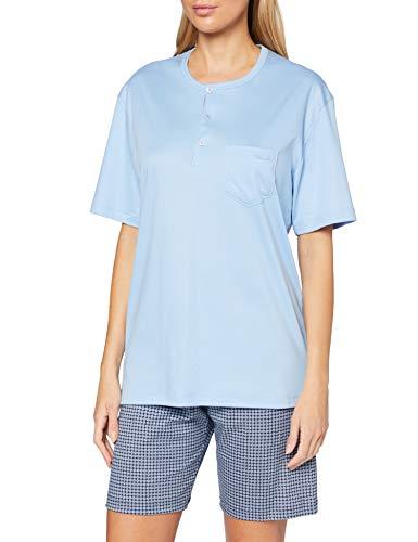 CALIDA Damen Relax Choice Pyjamaset, Placid Blue, M