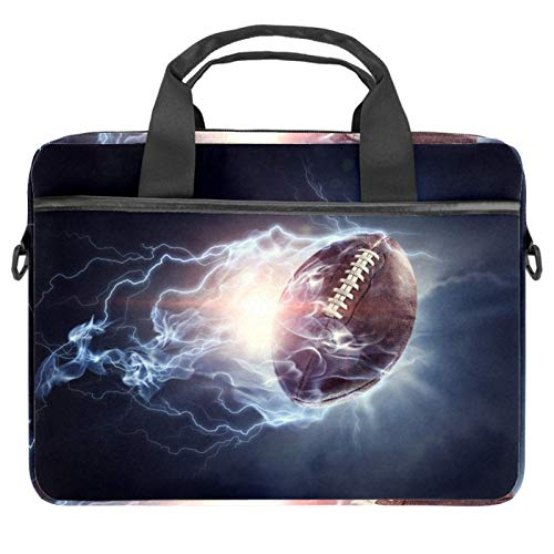 Laptop Bag American Football Game Notebook Sleeve with Handle 13.4-14.5 inches Carrying Shoulder Bag Briefcase