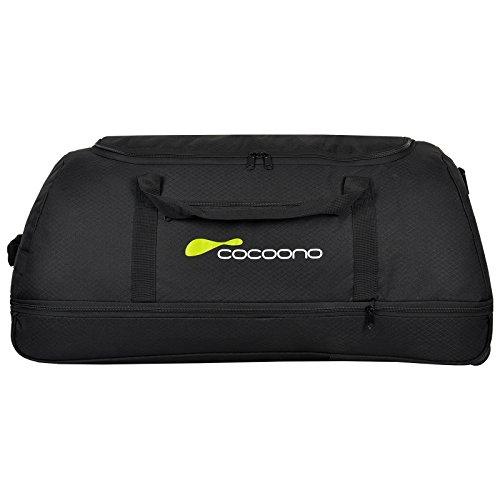 XXL Rollenreisetasche COCOONO 100-135 Liter Volumen Reisetasche faltbar Trolley Koffer STORM Tasche (Schwarz)