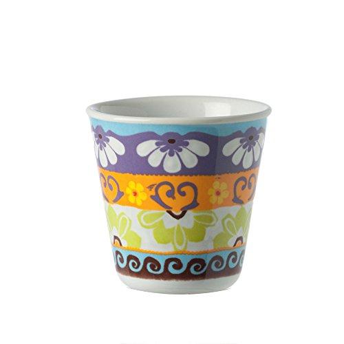Rose en tulpen – R1330026RO beker koffie / likeur, 6 stuks