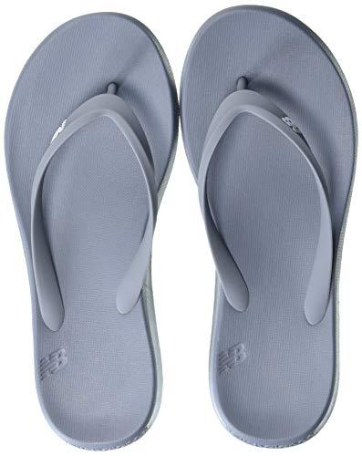 New Balance Men's 24 V1 Flip Flop, Grey/White, 8 -  SUT24G1-32-8 B US1872