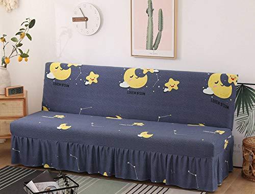 SLOUD Sin Brazos Funda de sofá, elástico Sofá Cama Cubierta, Asiento Plegable Completa Fundas Sofá Sofá Cama Cubierta Escudo-E-120-150cm/47-59inch