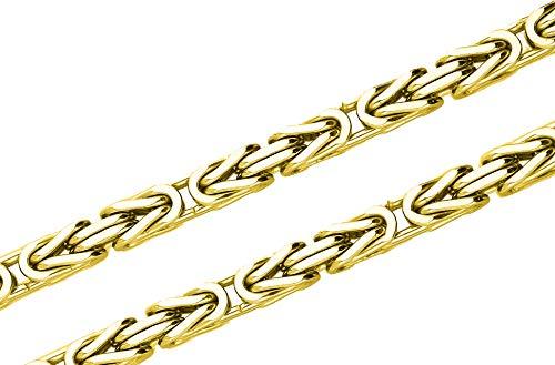 Königskette 925 Sterling Silber 24K vergoldet 55 cm 6,0 mm