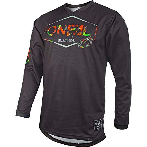 O'NEAL | Motocross-Trikot | Enduro MX | Atmungsaktives Material, Maximale Bewegungsfreiheit, Verlängerter Rücken | Jersey Mahalo | Erwachsene | Schwarz Multi | Größe M