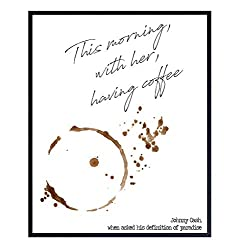 Gifts for Coffee Lovers - Johnny Cash Sentimental Quote Art