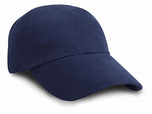 Result Headwear Low Profile Heavy Cotton Cap brossé Taille unique Capnavy