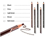Hot sale 5個/箱の眉毛タトゥー鉛筆&ペンの美容機器マイクロブレードの半永久的化粧品アクセサリーの供給卸売 long-lasting,waterprof,durable (Color : Mix color)