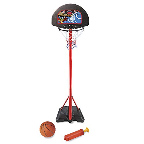 PL Ociotrends - Canasta Baloncesto de Metal, Altura Regulable 208 cm