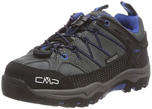 CMP Unisex-Kinder Kids Rigel Low Shoes Wp Trekking- & Wanderhalbschuhe, Grau (Grey-Zaffiro 52ak), 33 EU