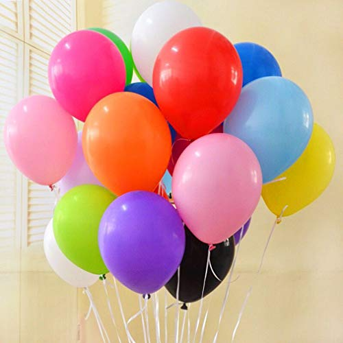 PeStary 50pcs 12inch Assorted Latex Balloons for Party Decoration Multicolor (Solid)