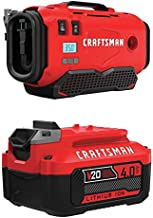 CRAFTSMAN V20 Inflator with Lithium Ion Battery, 4.0-Amp Hour, Charger Sold Separately (CMCE520B & CMCB204)