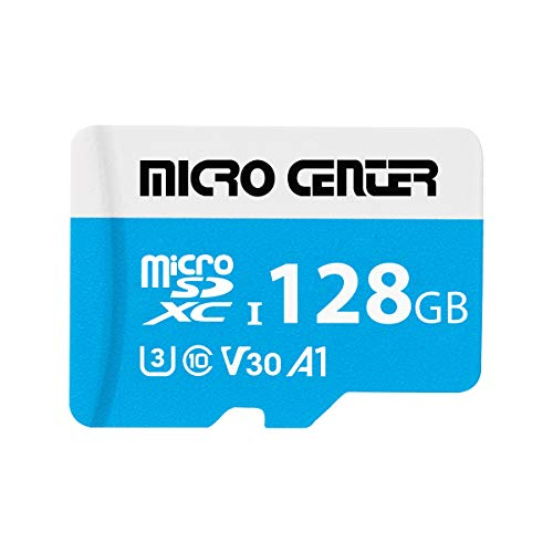 Micro Center Premium 128GB microSDXC Card UHS-I Flash Memory Card C10 U3 V30 4K UHD Video A1 Micro SD Card with Adapter (128GB)