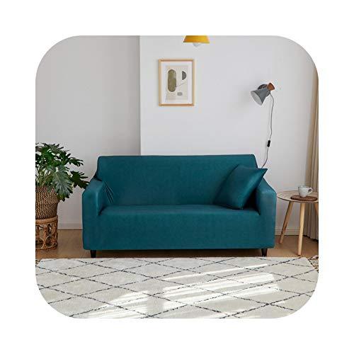 Sofabezug, 1/2/3/4 Sitzer, Decke Farbe Uni, für Wohnzimmer, elastischer moderner Stuhl, Forest Green-3-Seat 190 – 230 cm