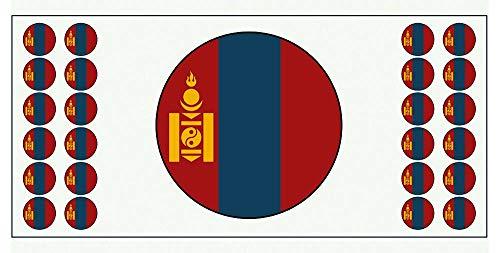 Mongolei-Flagge Banner – Poster – Party-Dekoration – Feier – Event – Weltmeisterschaft (2 Stück)