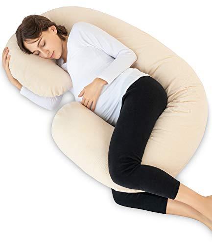 Meiz 抱き枕 妊婦 授乳クッション C型 マタニティ だきまくら 多機能 背もたれ 腰痛クッション 洗える カバ...