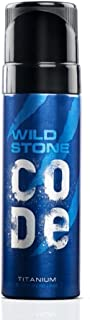 Wild Stone Code Titanium No Gas Body Perfume for Men, Strong Masculine Aroma for Everyday Use -120 ml