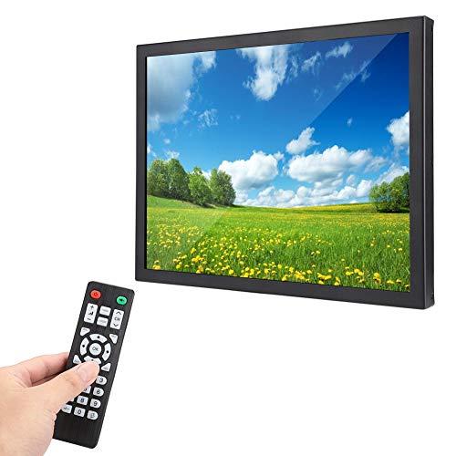 Monitor industriale Full Metal HD da 15 pollici, 1024x768 4: 3.2 Display TFT ampio display, interfacce multiple HDMI/VGA/AV/BNC/USB, schermo universale per PC, TV, TVCC, drone e Raspberry Pi(UE)