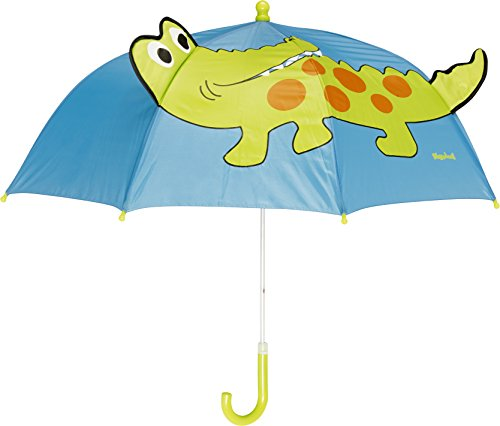 Playshoes Kinder Regenschirm Krokodil, One Size Schirm mit kindgerechtem Mechanismus, Diameter 70 cm
