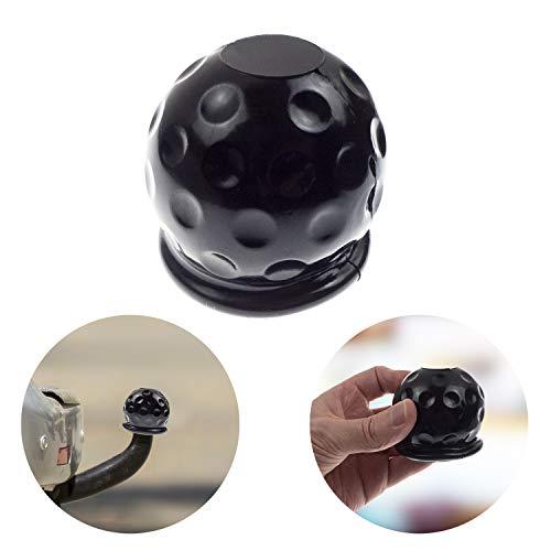 L+H Universale Abdeckung für Anhängerkupplung | Anhängerkupplung Schutzkappe aus Gummi für KFZ in schwarz | Kugelförmige Anhängerkupplung Kappe für Kugelkopfkupplungen ideal gegen Erosion & Schmutz