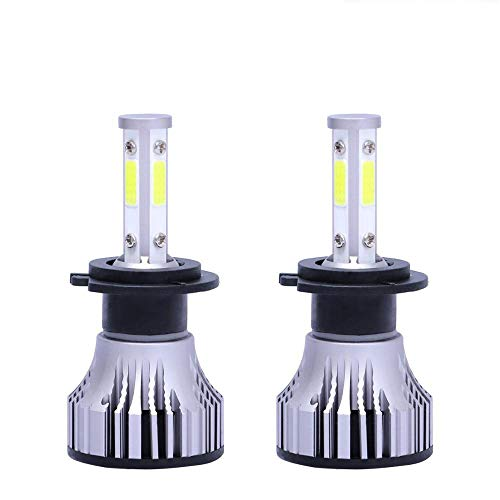 2pcs Coche LED Faros, Bombillas H7 LED, H4 H11 H8 H8 9005 9006 HB3 HB4 9012 9007 Bombillas de Faro del Coche LED, 16000lm Auto Headlamp Car Styling LED 24V 6000K,9004 hb1 hi lo