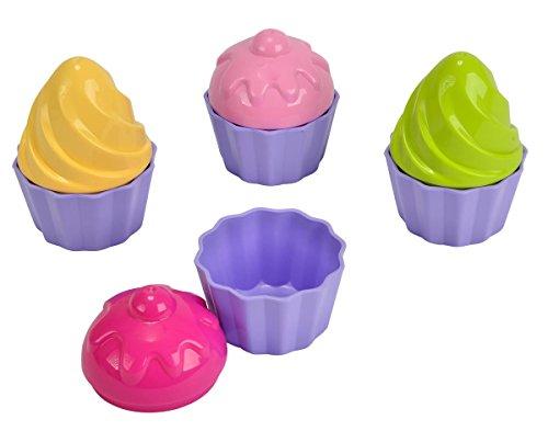 Simba 107102508 - Sandformen Cupcake, 8 Teile, Durchmesser 6cm, Sandkasten, Sandspielzeug