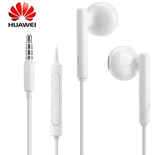 Huawei - Auriculares manos libres© Earbuds Original AM115 para Huawei Ascend G7/G8/G6 GX8 P6 P7 P8 P8 Lite mate S mate 7 8 blanco mate