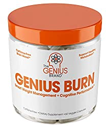 GENIUS BURN - Nootropic Caffeine Free Thermogenic Weight Loss Supplement