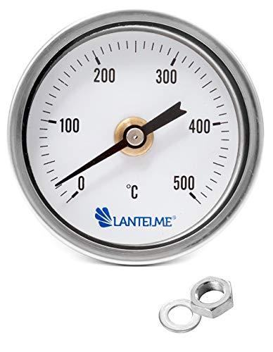 Lantelme 500 Grad Grill Öfen Thermometer Wasserdicht Rauchdicht Länge Sonde 15 cm Gewindeanschluß Analog 4325