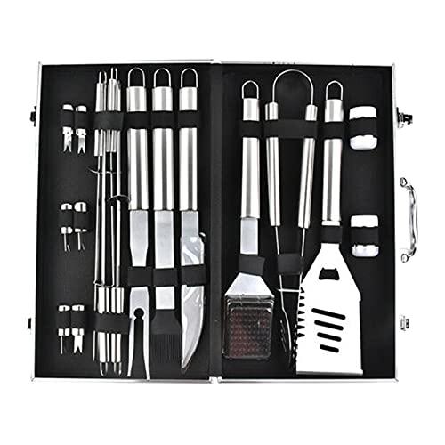 41v1N6f9rYS. SL500  - T TOOYFUL BBQ Grillzubehör Werkzeug-Set, 18-teiliges Hochleistungs-Edelstahl-Grillgerät mit Koffer, Grillwerkzeug Grill-Set für Vatertagsgeschenk Tools