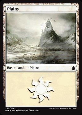 Magic The Gathering - Plains (252/264) - Dragons of Tarkir - Foil by