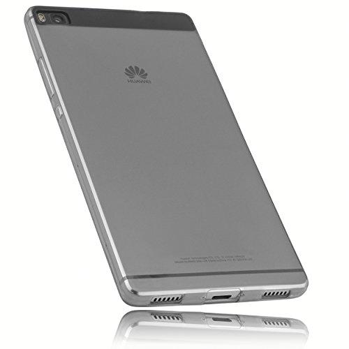 mumbi Hülle kompatibel mit Huawei P8 Handy Case Handyhülle dünn, transparent schwarz