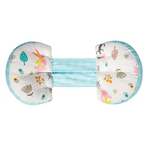 JiGAN Zijslaap-/zwangerschapskussen, verstelbaar bed-wig-steun- en zijslaapkussen, stoot- en rugsteunkussen