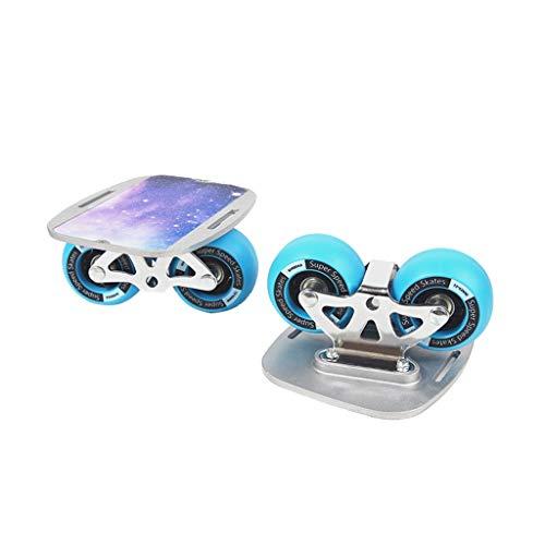 ZCR 2 PU Räder Aluminiumlegierung Skateboard for Freeline Roller Straße Drift Skates Antislip Deck Skates Wakeboard (Color : Blue)